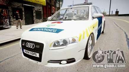 Hungarian Audi Police Car for GTA 4