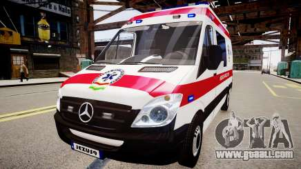 Hungarian Mercedes Sprinter Ambulance for GTA 4