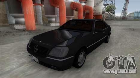 1993 Mercedes-Benz 600SEC for GTA San Andreas right view