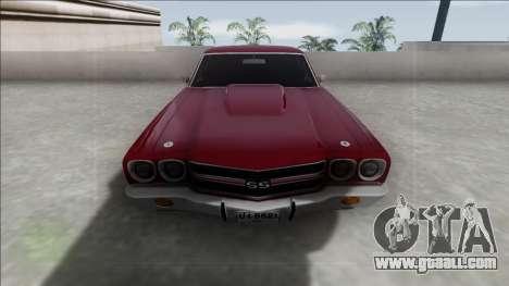 Chevrolet El Camino SS 454 1970 for GTA San Andreas back left view