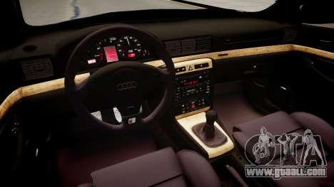 Audi S4 Widebody for GTA 4 inner view