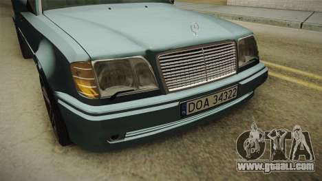 Mercedes-Benz E500 W124 AMG for GTA San Andreas inner view