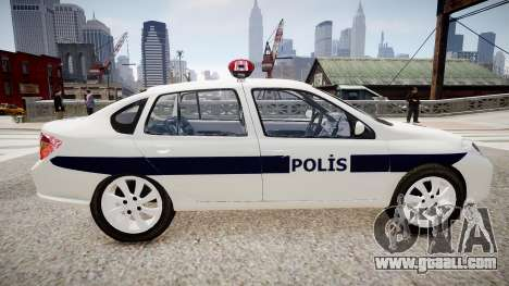 Renault Clio Symbol Police 2011 for GTA 4 left view
