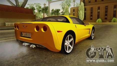 Chevrolet Corvette C6 for GTA San Andreas left view