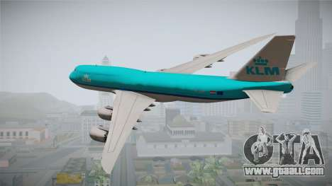 Boeing 747-8i KLM for GTA San Andreas left view
