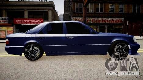 Mercedes-Benz W124 E500 for GTA 4 left view