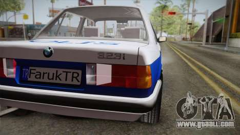 BMW 323i E30 Turkish Police for GTA San Andreas right view