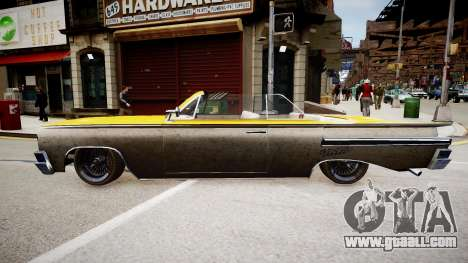 Voodoo Cabrio for GTA 4 right view