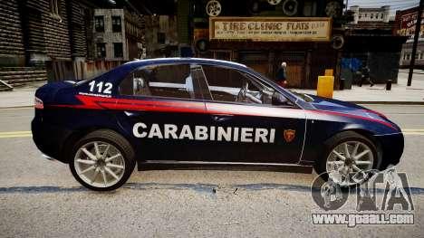 Alfa Romeo 159 Carabinieri for GTA 4 right view