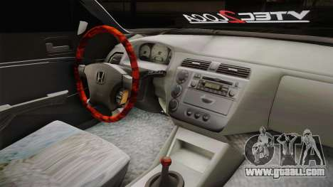 Honda Civic Vtec 2005 for GTA San Andreas inner view