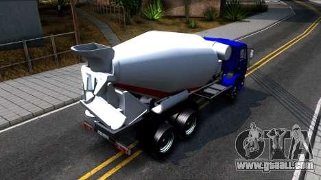 KamAZ 65115 Mixer Truck for GTA San Andreas back view