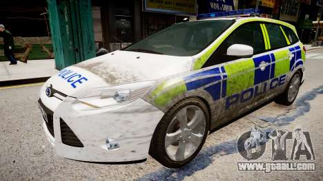 Ford Focus police UK for GTA 4 right view