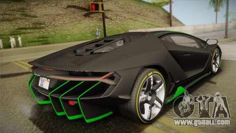 Lamborghini Centenario LP770-4 2017 Carbon Body for GTA San Andreas left view
