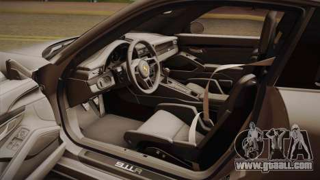 Porsche 911 R 2016 for GTA San Andreas inner view