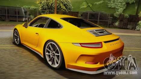 Porsche 911 R 2016 for GTA San Andreas left view