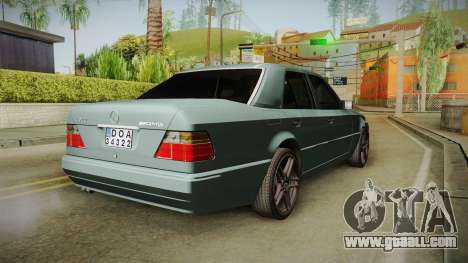 Mercedes-Benz E500 W124 AMG for GTA San Andreas back left view
