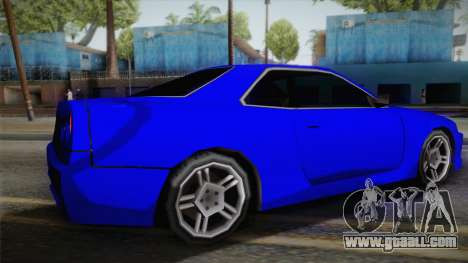 Nissan Skyline Lowpoly for GTA San Andreas left view
