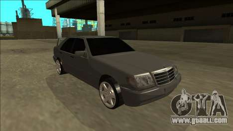 Mercedes Benz W140 Evolution for GTA San Andreas right view