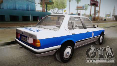 BMW 323i E30 Turkish Police for GTA San Andreas left view