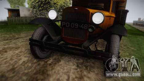 GAZ-AAA 1934 IVF for GTA San Andreas back left view