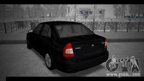 Hyundai Accent Stock for GTA San Andreas left view