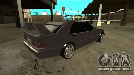 Mercedes Benz W140 Evolution for GTA San Andreas left view