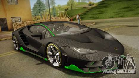 Lamborghini Centenario LP770-4 2017 Carbon Body for GTA San Andreas