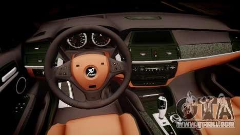 BMW X6 Hamann v2.0 for GTA 4 inner view