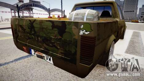 Volkswagen Caddy US Army for GTA 4 back left view