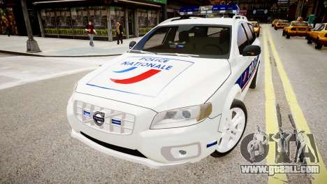Volvo Police National for GTA 4 right view