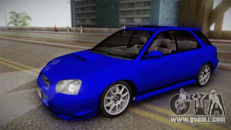 Subaru Impreza Wagon 2004 for GTA San Andreas