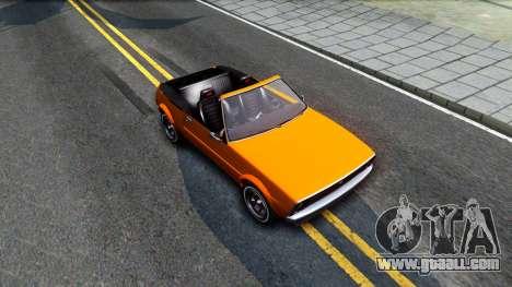 GTA V Declasse Rhapsody Cabrio Style for GTA San Andreas right view