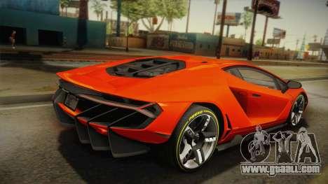 Lamborghini Centenario LP770-4 2017 Painted Body for GTA San Andreas left view