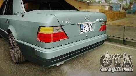 Mercedes-Benz E500 W124 AMG for GTA San Andreas bottom view