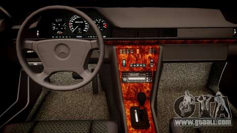 Mercedes-Benz W124 E500 for GTA 4 inner view