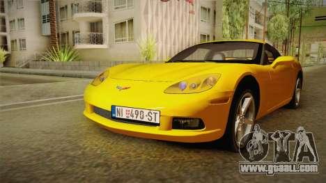 Chevrolet Corvette C6 for GTA San Andreas