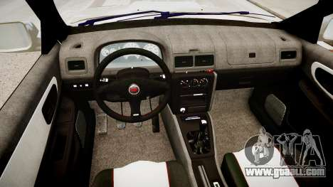 Subaru Impreza 22b STI for GTA 4 inner view