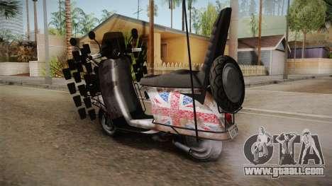 GTA 5 Pegassi Faggio Extreme Tuning v5 for GTA San Andreas left view