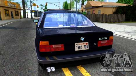 BMW E34 535i for GTA San Andreas back left view