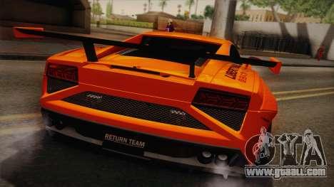 Lamborghini Gallardo Liberty Walk for GTA San Andreas back view