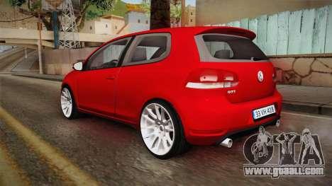 Volkswagen Golf 1.6 for GTA San Andreas left view