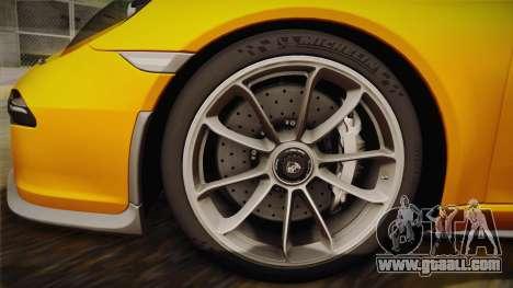 Porsche 911 R 2016 for GTA San Andreas back left view