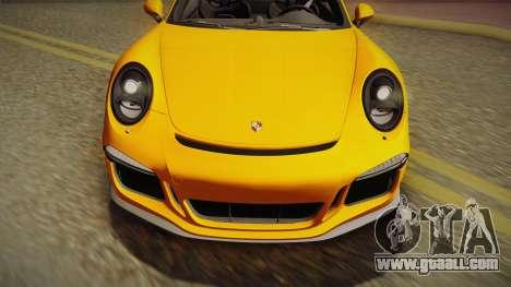 Porsche 911 R 2016 for GTA San Andreas right view