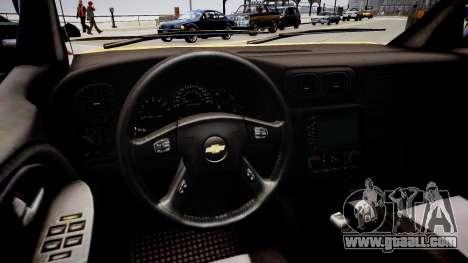 Chevrolet TrailBlazer v2.0 for GTA 4 inner view