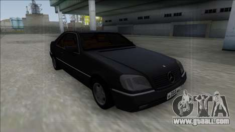 1993 Mercedes-Benz 600SEC for GTA San Andreas inner view