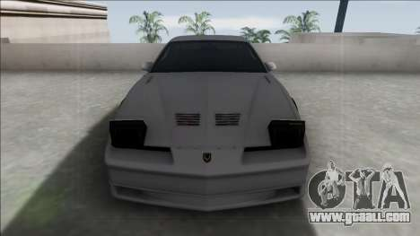 Pontiac Firebird Trans Am for GTA San Andreas back left view
