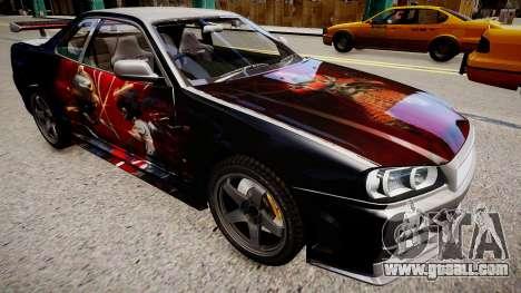 Nissan Skyline R34 Paintjob by eXTaron for GTA 4