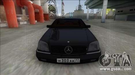 1993 Mercedes-Benz 600SEC for GTA San Andreas back view