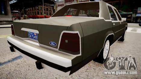 Ford LTD Crown Victoria 1989 for GTA 4 back left view