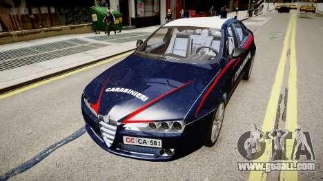 Alfa Romeo 159 Carabinieri for GTA 4 back left view